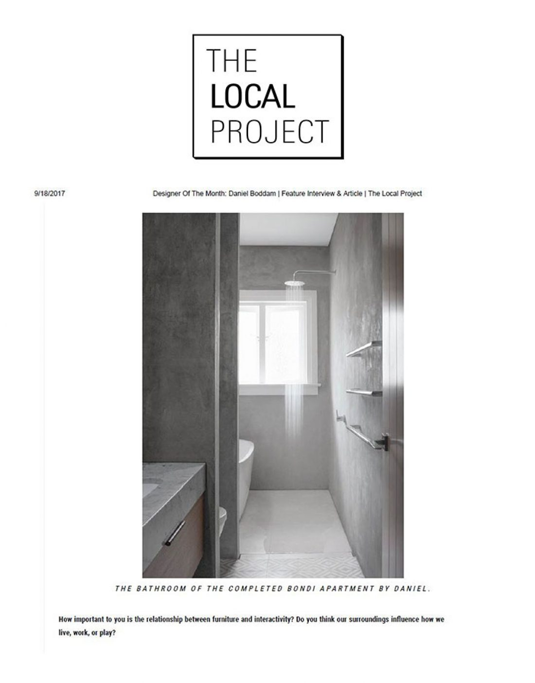 The Local Project - Daniel Boddam